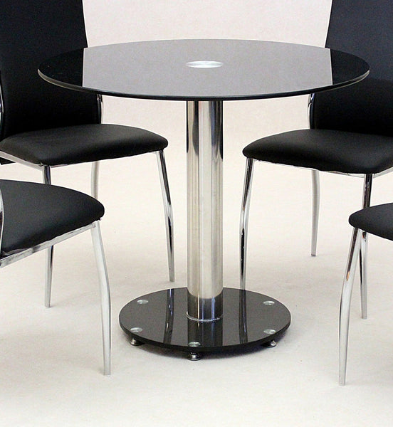 Heartlands FurnitureAlonza Black Glass Dining Table OnlyBlue Ocean Interiors