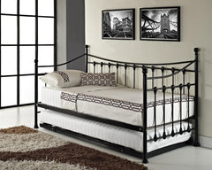 Versailles Metal French Day Bed with Trundle  metal bed- Blue Ocean Interiors