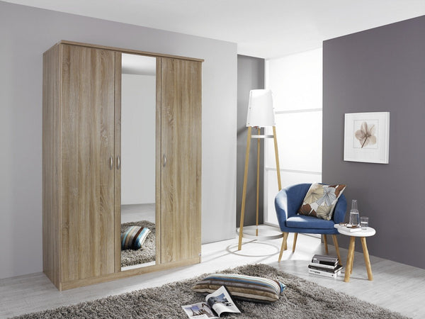 RauchBlitz 3 Door 1 Mirror Hinged Door WardrobeBlue Ocean Interiors