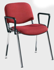 Taurus 4 x Wooden Chrome Frame Stacking Chairs With Arms2  conference and meeting chair- Blue Ocean Interiors