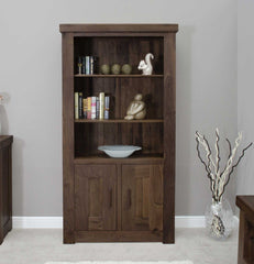 The Walnut Collection 2 Door Bookcase  bookcase- Blue Ocean Interiors