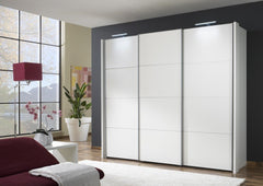 Miami 2 Sliding Door Wardrobe Wood Doors with 4 Sections  sliding door wardrobe- Blue Ocean Interiors