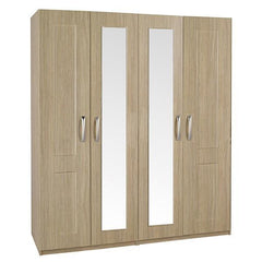 Staccato 4 Door Wardrobe with 2 Mirrors  wardrobe- Blue Ocean Interiors