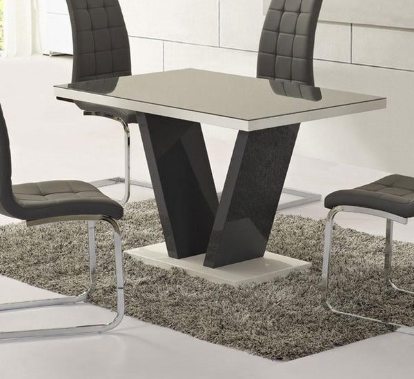 Zara Small Grey Glass Dining Table Only