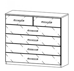Terano 2+4 Drawer Chest  chest of drawers- Blue Ocean Interiors