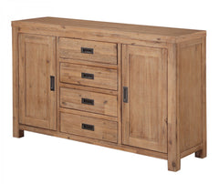 Heartlands FurnitureEmily Sideboard Large in Solid Acacia Wood in a Dark Sand FinishBlue Ocean Interiors
