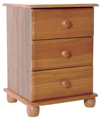 Skagen 3 Drawer Bedside in Pine  bedside table- Blue Ocean Interiors