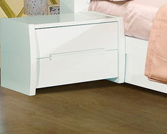 Tanya Bedside Table In High Gloss White-quality issue  bedside table- Blue Ocean Interiors