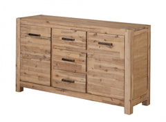 Sahara Sideboard Large in Solid Acacia Wood in a Brushed Sand Finish  sideboard- Blue Ocean Interiors