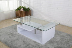 Heartlands FurnitureBernard Coffee Table in High Gloss White FinishBlue Ocean Interiors