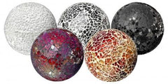 Large Glass Mosaic Ball  ornament- Blue Ocean Interiors