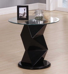 Rowley Lamp Table in Gloss Black  side table- Blue Ocean Interiors
