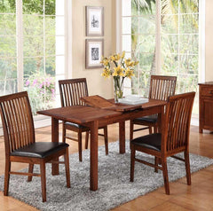 Hartford Acacia Extending Dining Table with 4 Chairs  wood dining table and chairs- Blue Ocean Interiors