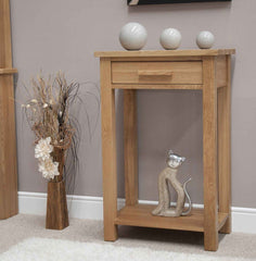 Opus Oak Small Hall/Console Table  console table- Blue Ocean Interiors
