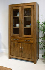 Mayan Large Glazed Bookcase in Walnut  bookcase- Blue Ocean Interiors