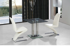 Heartlands FurnitureAnkara Compact Dining Table in Clear Glass with Ankara ChairsBlue Ocean Interiors