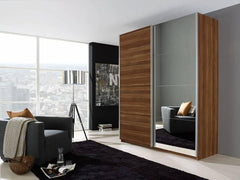 RauchBeluga Base 2 Door Sliding Wardrobe with 1 Mirror DoorBlue Ocean Interiors