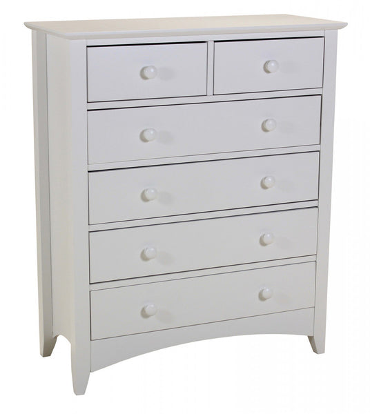 Heartlands FurnitureChelsea 4 + 2 Drawer Chest in WhiteBlue Ocean Interiors