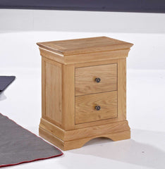 Worthing 2 Drawer Bedside in American White Oak  bedside table- Blue Ocean Interiors