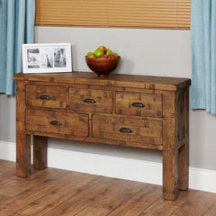 Heyford Rough Sawn Oak Console Table  console table- Blue Ocean Interiors
