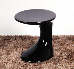 Wilcox Lamp Table in High Gloss Black, Red or White  side table- Blue Ocean Interiors