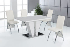 Heartlands FurnitureCostilla High Gloss Dining Table and 4 ChairsBlue Ocean Interiors