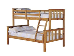 Otto Trio Bunk Bed in Pine  bunk bed- Blue Ocean Interiors