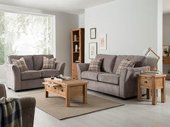 Vida LivingArran 3 + 2 Seater Sofa Set in Grey FinishBlue Ocean Interiors