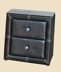 Odessa 2 Drawer Nightstand in PU Finish 2 Colours Available  bedside table- Blue Ocean Interiors