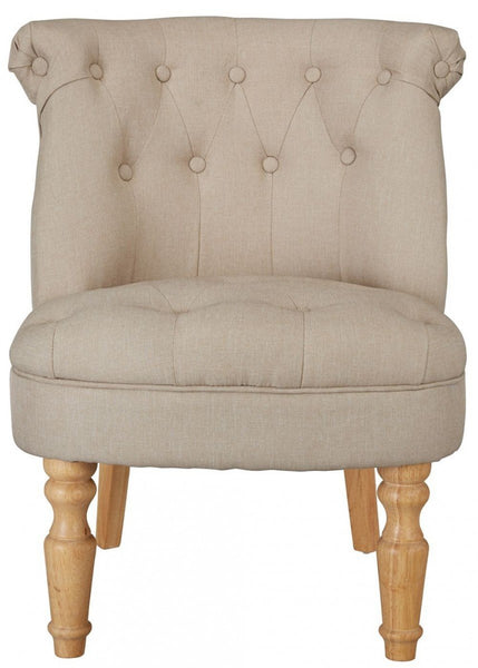 LPD FurnitureCharlotte Boudoir Style Chair in BeigeBlue Ocean Interiors