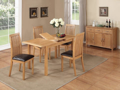Hartford City Oak Extending Dining Table with 4 Chairs  wood dining table and chairs- Blue Ocean Interiors