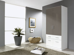 RauchCelle - Extra 2 Door Wardrobe with 4 Drawers No ShelvesBlue Ocean Interiors