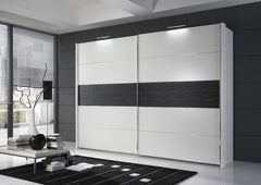 Hollywood Sliding Door Wardrobe With Mocca Stripe in 5 Widths  sliding door wardrobe- Blue Ocean Interiors