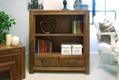 Mayan Low Bookcase in Walnut  bookcase- Blue Ocean Interiors