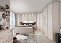 Luxor 4 Overbed Unit With 50cm Straight Doors and Drawers  overbed wardrobe- Blue Ocean Interiors