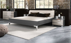Loft 150cm Bedframe with Leather Headboard  leather bed- Blue Ocean Interiors