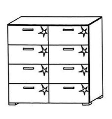 Mavi Plus 8 Drawer Chest  chest of drawers- Blue Ocean Interiors