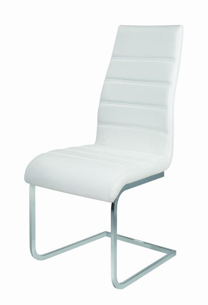 GiataliaArora Dining Chair in Black or White Faux LeatherBlue Ocean Interiors
