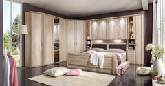 Luxor 4 Overbed Unit With 50cm Angled Open Compartments  overbed wardrobe- Blue Ocean Interiors