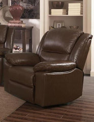 Toledo Leather and PVC 1 Seater Recliner  armchair- Blue Ocean Interiors