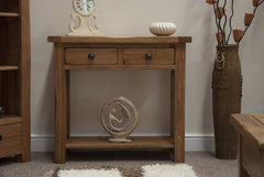 Rustic Oak Hall / Console Table  console table- Blue Ocean Interiors