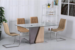 Olivia Glass Dining Table with 6 Chairs  glass dining tables and chairs- Blue Ocean Interiors