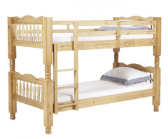 Trieste Chunky 3'0'' Single Bunk in Pine Finish  bunk bed- Blue Ocean Interiors