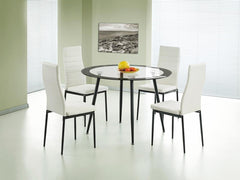 Heartlands FurnitureAcodia Glass Dining Table with 4 ChairsBlue Ocean Interiors