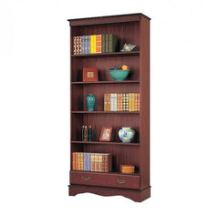 Mahogany Tall Bookcase with Drawer  bookcase- Blue Ocean Interiors