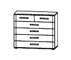 Rivera 6 Drawer Chest Flat Packed  chest of drawers- Blue Ocean Interiors