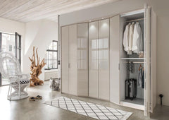 WiemannBoston Combi Wardrobe W367cm with Bi Fold Doors and Angled ElementsBlue Ocean Interiors