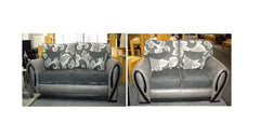 Prada 3 + 2 Seater Sofa in Fabric and Leather  fabric sofa- Blue Ocean Interiors