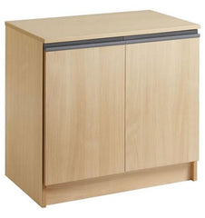 Maestro Low Stationery Cupboard in Beech Finish  filing cabinets- Blue Ocean Interiors