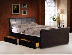 "Harrogate 4'6"" Double Bedframe With 4 Drawers  leather bed- Blue Ocean Interiors"